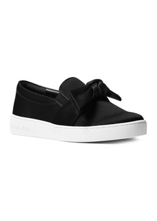 MICHAEL Michael Kors Women's Willa Satin Bow Slip-On Sneakers