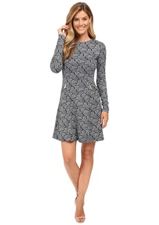 MICHAEL Michael Kors Woodbrook Zip Seam Flare Dress