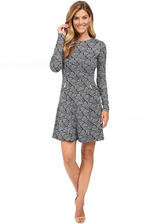 MICHAEL Michael Kors Woodbrook Zip Seam Flare Dress