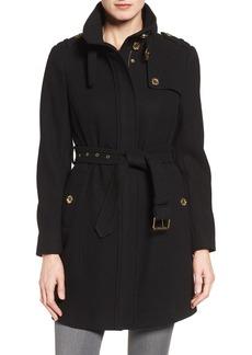 MICHAEL Michael Kors Wool Blend Trench Coat (Regular & Petite)