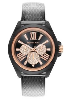 MICHAEL Michael Kors Wren Faux Leather Strap Watch, 42mm