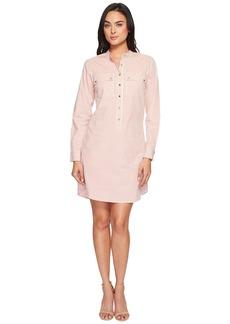 MICHAEL Michael Kors Yarn-Dye Stripe Button Down Dress