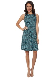 MICHAEL Michael Kors Zebra Matte Jersey Twist Back Dress