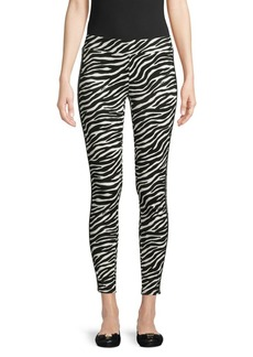 MICHAEL Michael Kors Zebra-Print Stretch Leggings