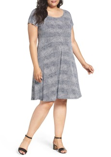 MICHAEL Michael Kors Zephyr Print Fit & Flare Dress (Plus Size)