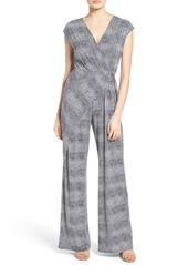 MICHAEL Michael Kors Zephyr Print Jersey Wrap Front Jumpsuit