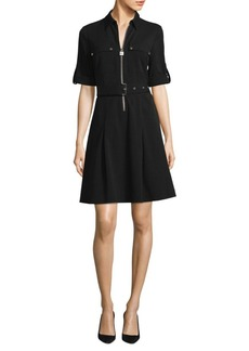 MICHAEL Michael Kors Zip-Front Shirt Dress