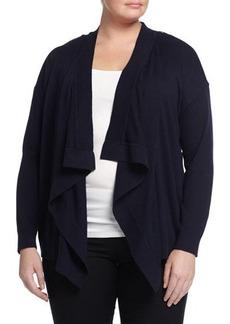 MICHAEL Michael Kors Plus Zip-Shoulder Draped Cardigan