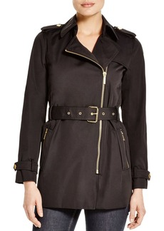MICHAEL Michael Kors Zip Trench Coat