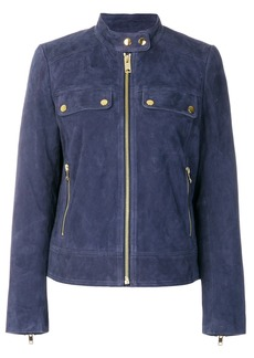 Michael Michael Kors zipped suede jacket - Blue