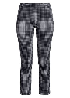 MICHAEL Michael Kors Micro Check Cropped Cigarette Pants