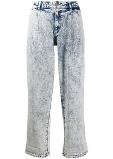 MICHAEL Michael Kors mid rise acid washed jeans