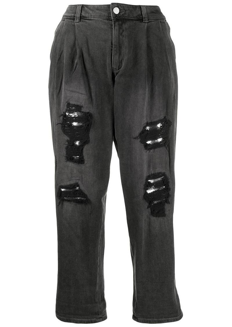 MICHAEL Michael Kors mid rise distressed effect jeans