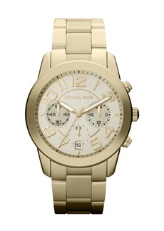 MICHAEL Michael Kors Mid-Size Golden Stainless Steel Mercer Chronograph Watch