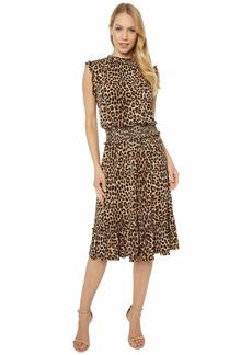 MICHAEL Michael Kors Mini Cheetah Smocked Waist Dress
