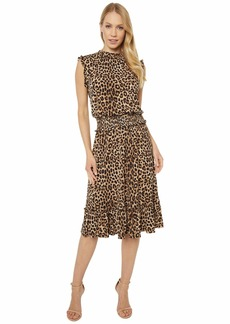 MICHAEL Michael Kors Mini Cheetah Smocked Waist Dress