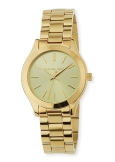 MICHAEL Michael Kors Mini Slim Runway 34mm Watch w/ Bracelet Strap  Gold