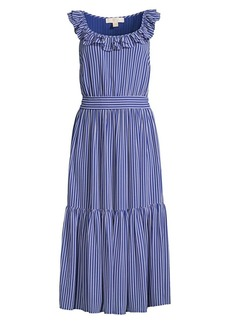MICHAEL Michael Kors Mini Stripe Railroad Midi Dress