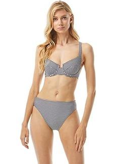 MICHAEL Michael Kors Mini Stripe Underwire Bikini Top with Cross-Back
