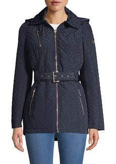 MICHAEL Michael Kors Missy Belted Quilted Jacket