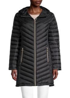 MICHAEL Michael Kors Missy Chevron Down Puffer Coat