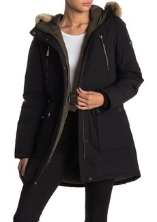 MICHAEL Michael Kors Missy Down Filled Faux Fur Trim Hood Anorak