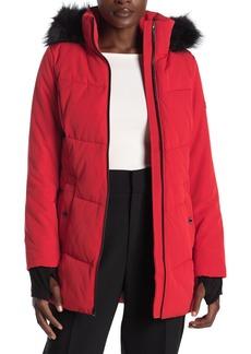 MICHAEL Michael Kors Missy Faux Fur Trim Jacket