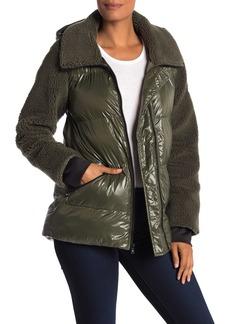 MICHAEL Michael Kors Missy Faux Shearling Nylon Jacket