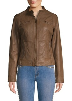 MICHAEL Michael Kors Missy Moto Leather Jacket