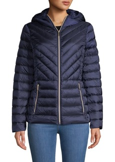 MICHAEL Michael Kors Missy Zip Packable Down Jacket