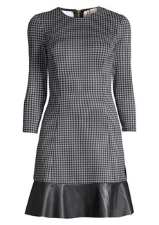 MICHAEL Michael Kors Mixed Check Dress
