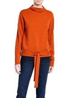 MICHAEL Michael Kors Mock Neck Tie Front Sweater