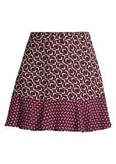 MICHAEL Michael Kors Mod Geometric A-Line Skirt