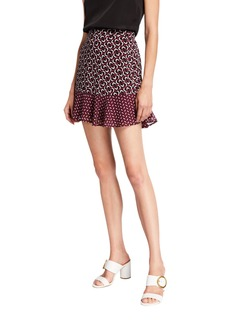 MICHAEL Michael Kors Mod Geometric Flounce Mini Skirt