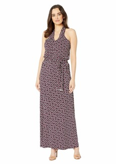MICHAEL Michael Kors Mod Twist Neck Maxi Dress