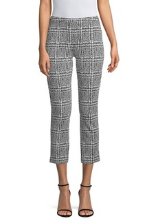 MICHAEL Michael Kors Monochrome Plaid Knit Cigarette Pants