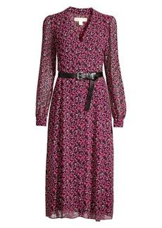MICHAEL Michael Kors Multi-Floral Belted Dress