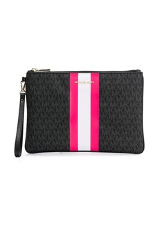 MICHAEL Michael Kors neon stripe clutch bag