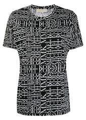 MICHAEL Michael Kors Newsprint logo T-shirt