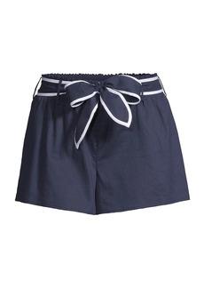 MICHAEL Michael Kors Obi Belted Cotton Shorts