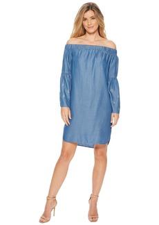 MICHAEL Michael Kors Off Shoulder Bell Sleeve Dress