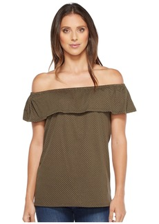 MICHAEL Michael Kors Off Shoulder Flounce Top