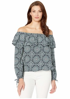 MICHAEL Michael Kors Off-Shoulder Ruffle Top