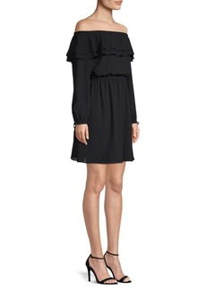 MICHAEL Michael Kors Off-The-Shoulder Peasant Dress