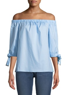 MICHAEL Michael Kors Off-the-Shoulder Tie-Sleeve Blouse
