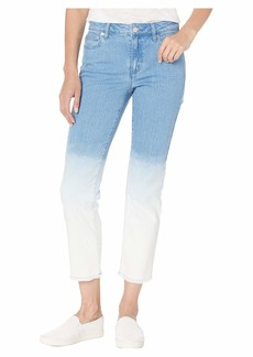 MICHAEL Michael Kors Ombre Cropped Drain Jeans in Angel Blue Wash