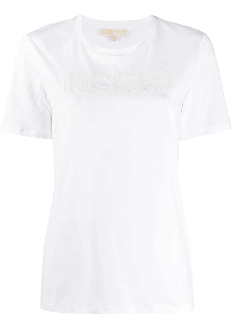 MICHAEL Michael Kors on-tone sequin-logo T-shirt