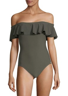 One-Piece Off-The-Shoulder Swimsuit