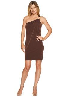 MICHAEL Michael Kors One Shoulder Dress with Trim