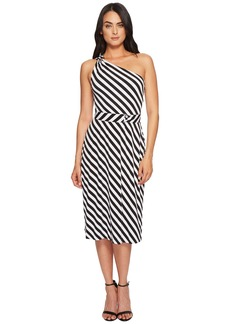 MICHAEL Michael Kors One Shoulder Striped Dress